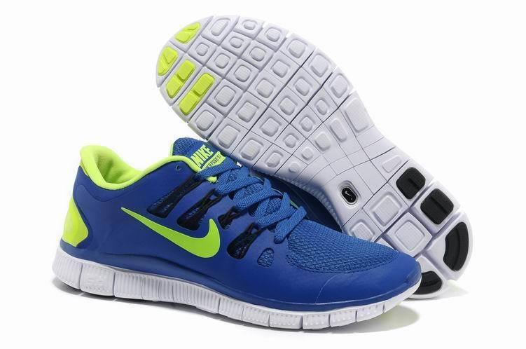 Trendy Nike Free Run 5.0 2 Blue Green Swoosh