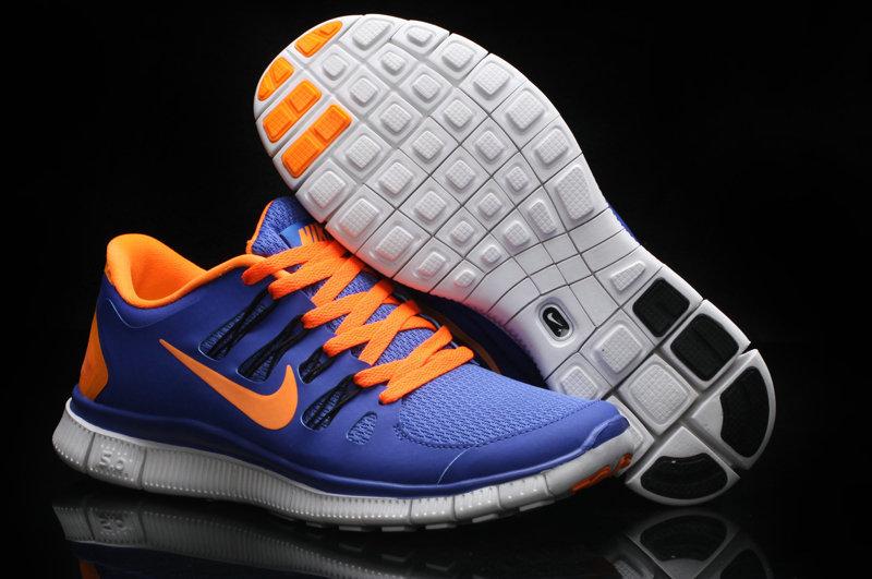 Trendy Nike Free Run 5.0 2 Blue Orange Swoosh
