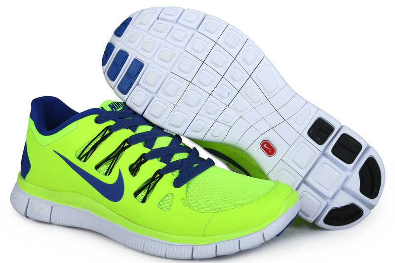 Trendy Nike Free Run 5.0 2 Fluorscent Green Blue