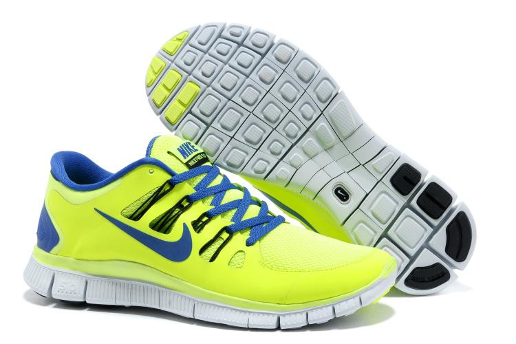 Trendy Nike Free Run 5.0 2 Green Blue