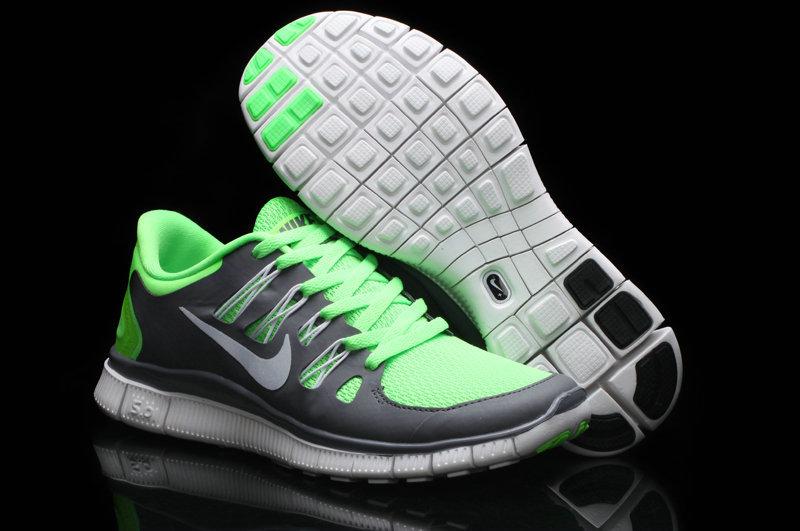 Trendy Nike Free Run 5.0 2 Green Grey