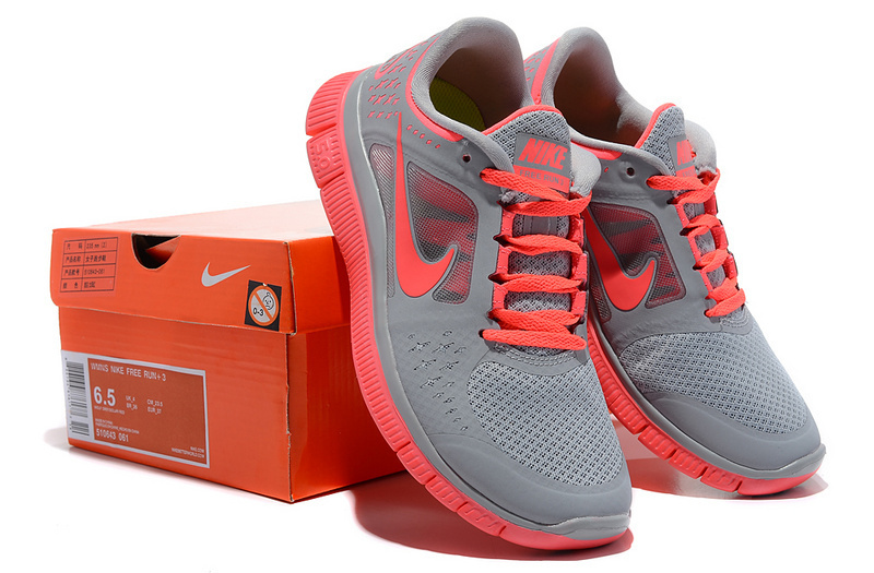 2015 Women Nike Free Run 5.0 2 Grey Red Shoes