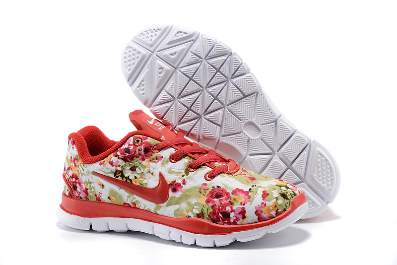 2015 Nike Free Run 5.0 Bird Net Red Shoes For Women