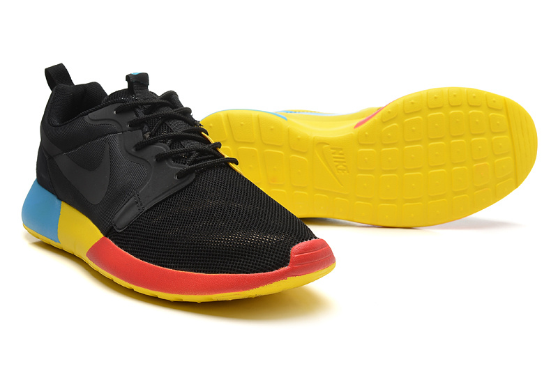 New Nike Roshe Run 3M Midnight Black Red Yellow Blue Shoes