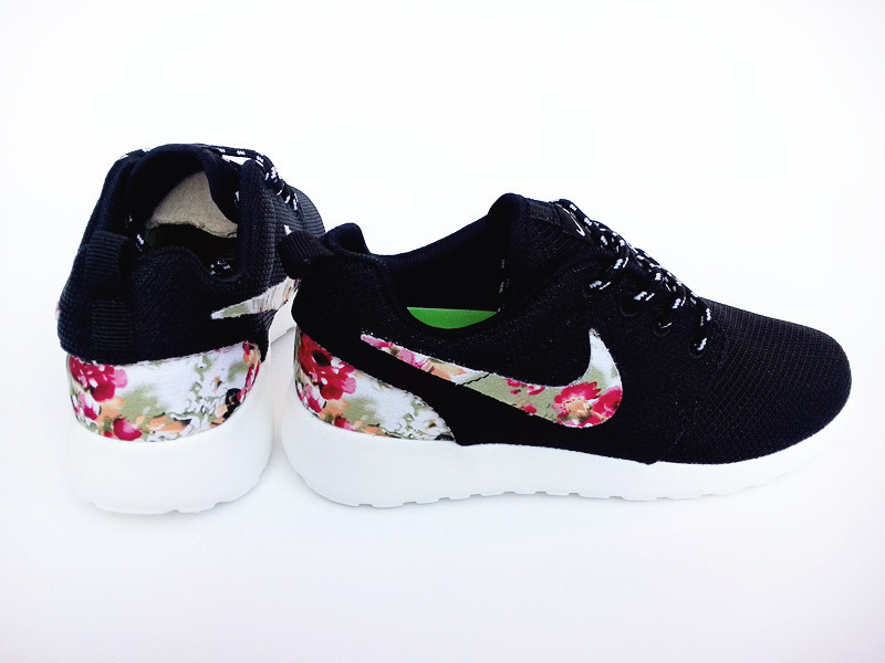 2015 Nike Roshe Run Black Colorful Women Shoes