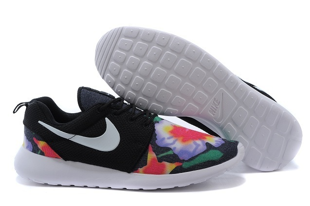 2015 Nike Roshe Run Black Red Green Women Shoes