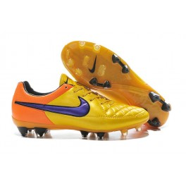 2015 men's soccer boots nike tiempo legend v fg laser orange persian violet total orange violet