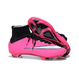 2015 nike men's mercurial superfly fg football cleats black pink white