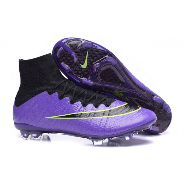 2015 nike men's mercurial superfly fg football cleats purple green black