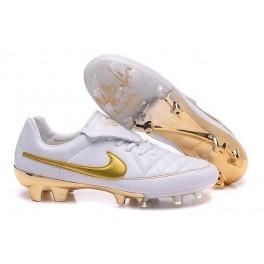 2016 men's soccer boots nike tiempo legend v fg r10 white golden