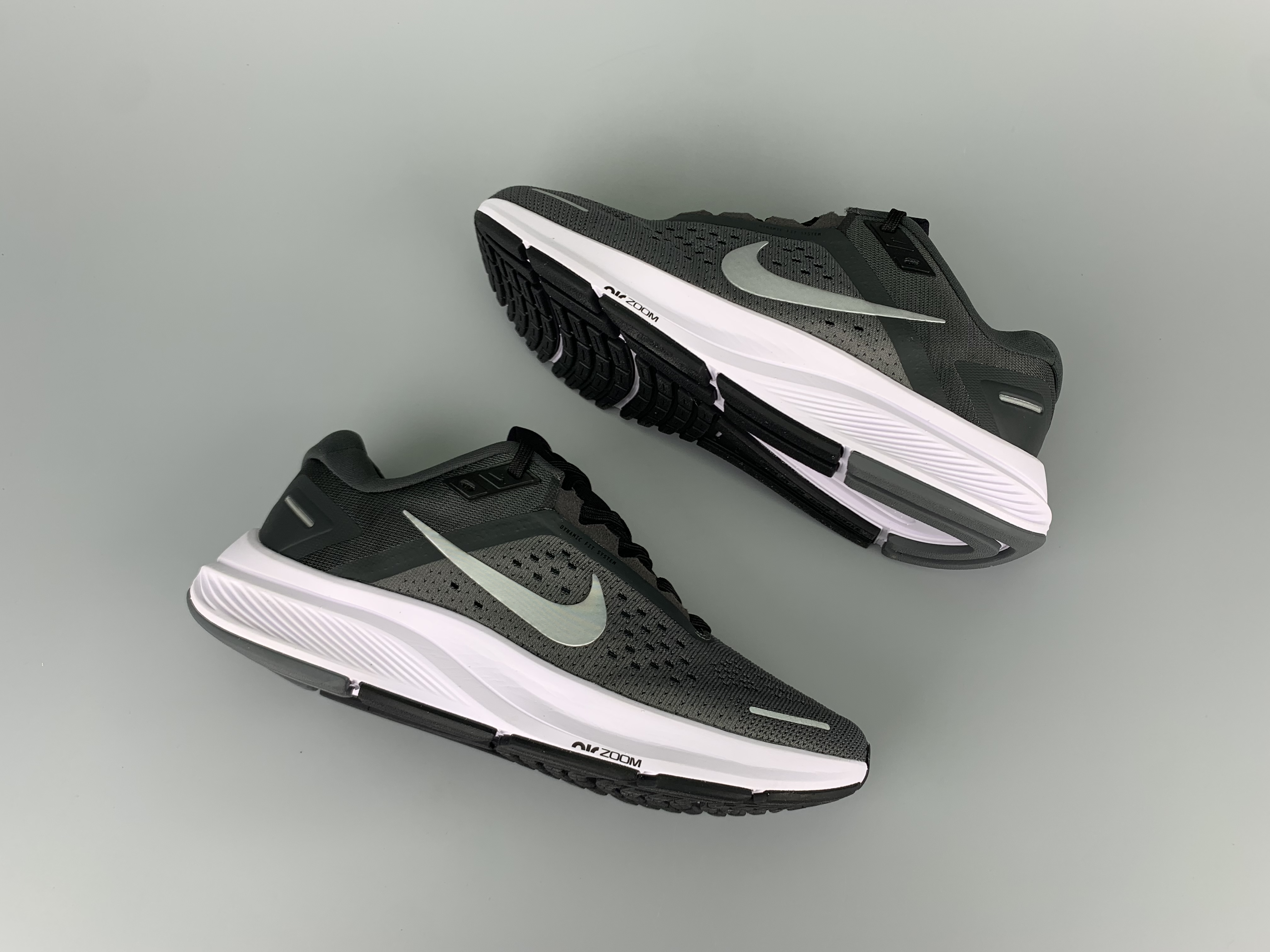 2020 Men Nike Zoom Structure 23 Black Grey White Running Shoes