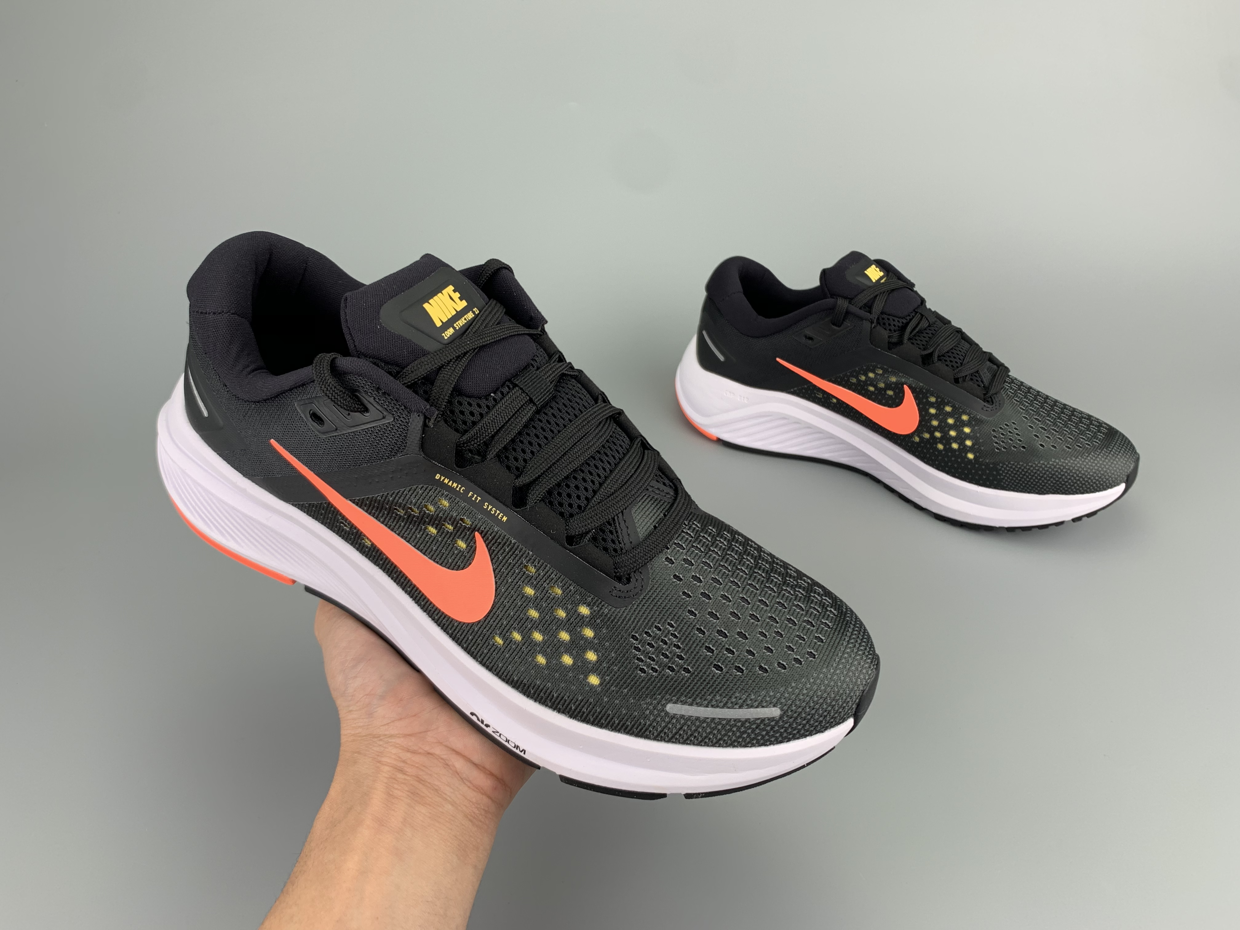 2020 Men Nike Zoom Structure 23 Black Red White Running Shoes