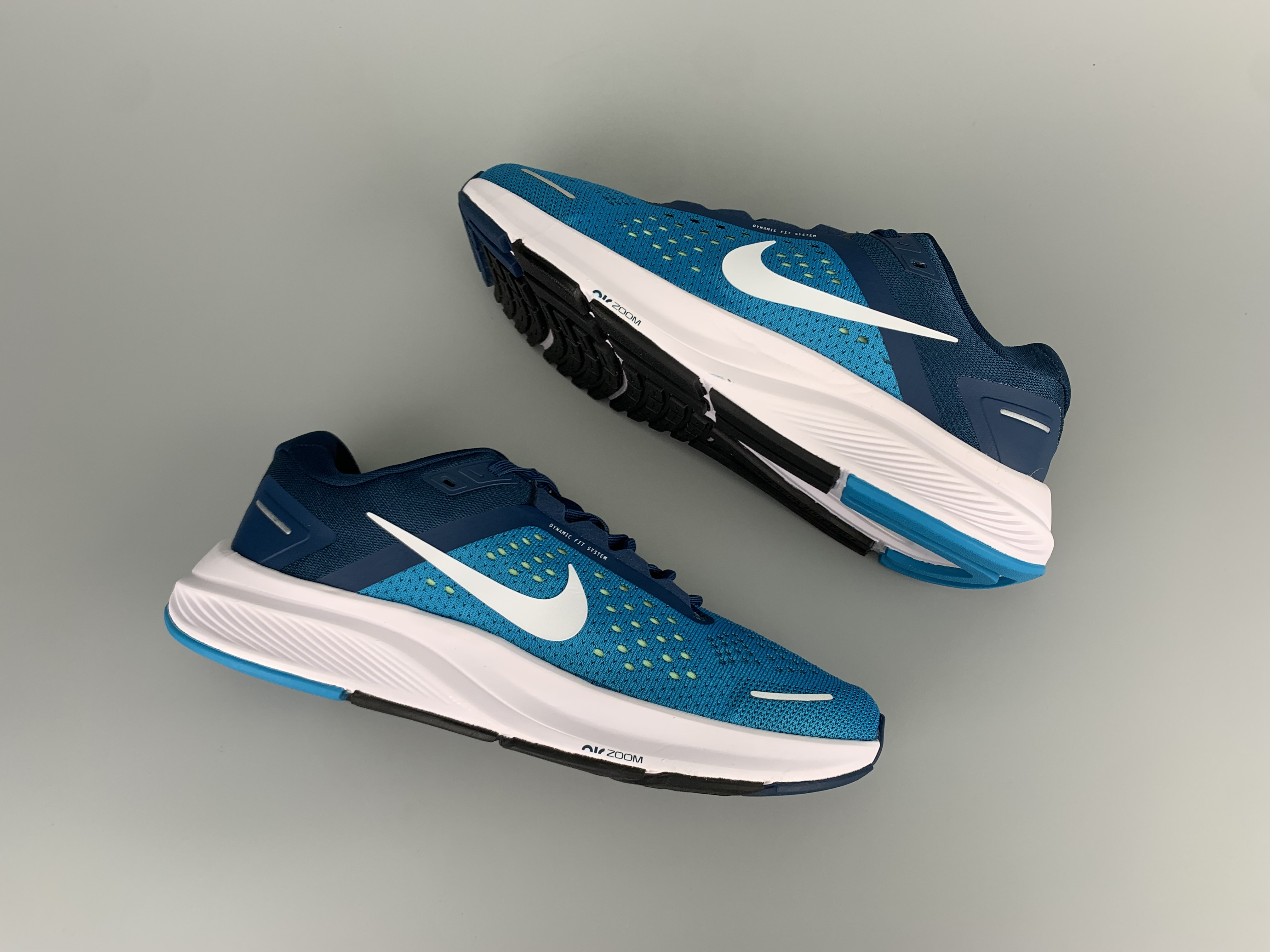 2020 Men Nike Zoom Structure 23 Sea Blue White Running Shoes