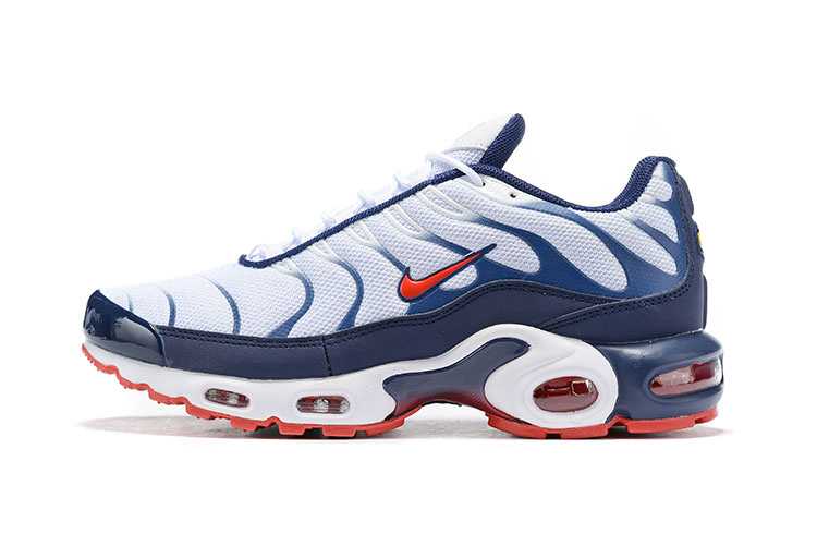 Nike Air Max VaporMax Plus White Navy Blue Red Shoes
