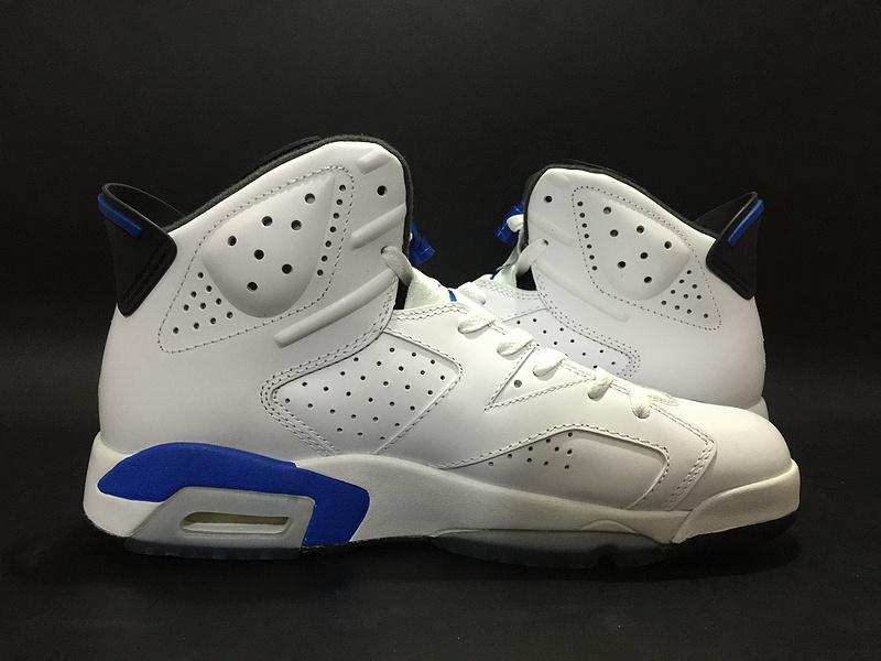 Air Jordan 6 Sport Blue GS White Blue Shoes