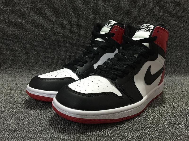 Air Jordan 1 OG Black Toe Black White Red Shoes