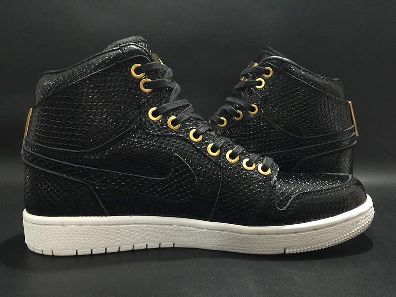 Air Jordan 1 Pinnacle Black Gold Shoes