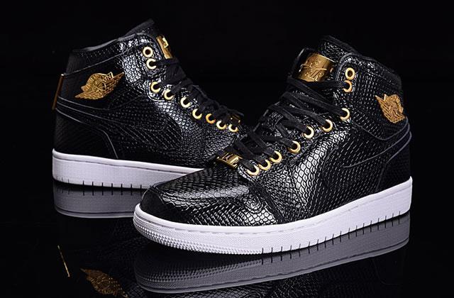Air Jordan 1 Pinnacle Black Golden