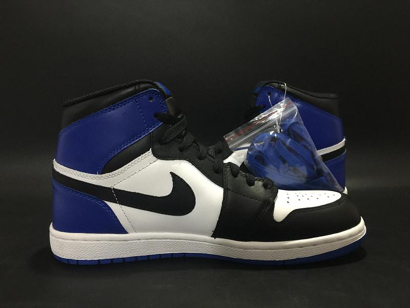 Air Jordan 1 x Fragment Design Black White Blue Shoes