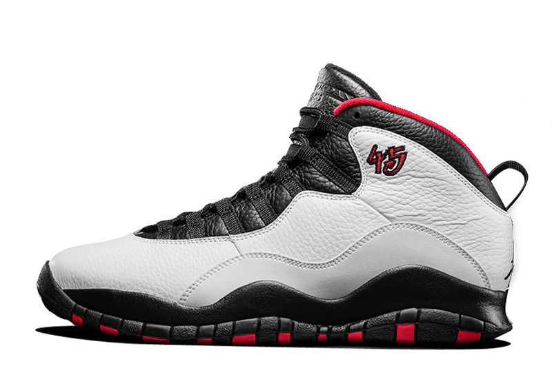 Air Jordan 10 Retro Chicago 45 PE For 2015 In White Varsity Red Black