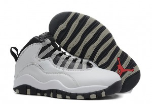 Air Jordan 10 X Retro White Black Light Steel Grey Varsity Red