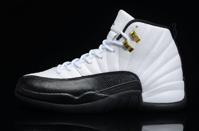 Air Jordan 12 Retro Taxi Black White