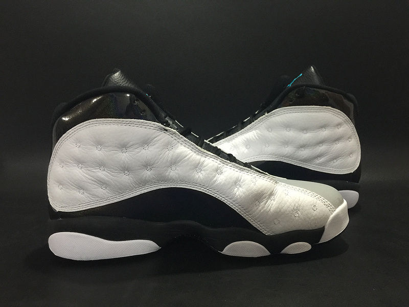 Air Jordan 13 Hologram White Black Grey Shoes
