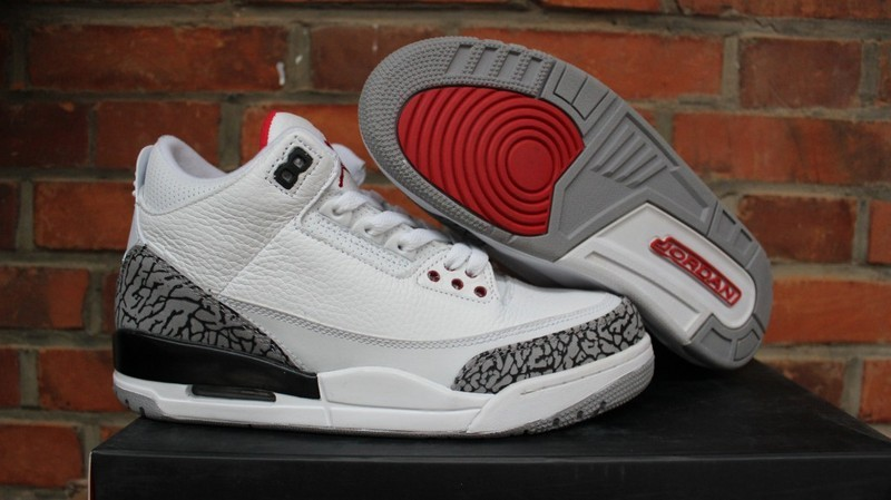 Air Jordan 3 White Cement Red Shoes