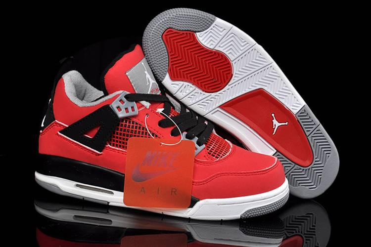 Air Jordan 4 GS Fire Red Nubuck