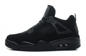 Air Jordan 4 Retro Black Cat Black Black Light Graphite