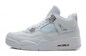 Air Jordan 4 Retro Silver 25th Anniversary White Metallic Silver