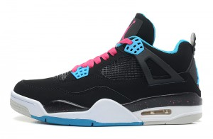 Air Jordan 4 Retro South Beach Black Dynamic Blue White Vivid Pink