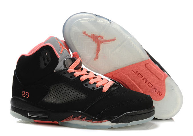 Air Jordan 5 GS Black Pink Silver
