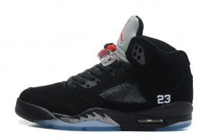 Air Jordan 5 Retro Black Varsity Red Metallic Silver