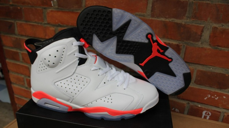 Air Jordan 6 Infrared GS White Pink Shoes