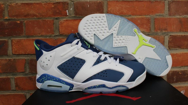 Air Jordan 6 Low Ghost Green White Blue Shoes