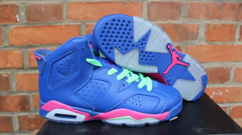 Air Jordan 6 VI GG Blue Pink Shoes