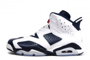 Air Jordan 6 VI Retro Olympic White Midnight Navy Varsity Red