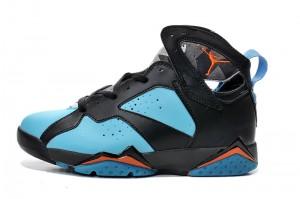 Air Jordan 7 Black Blue Orange