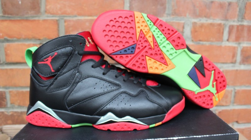 Air Jordan 7 Marvin The Martian Black Red Green Shoes