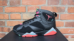 Air Jordan 7 Marvin The Martian Lover Black Red Shoes