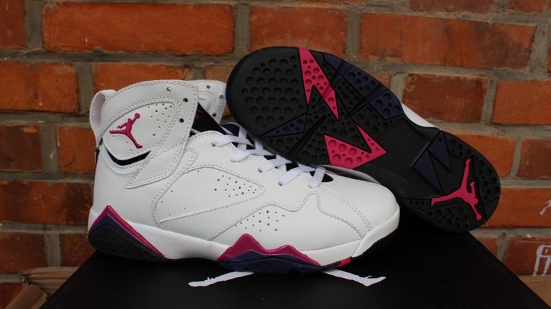 Air Jordan 7 Retro GS White Pink Shoes