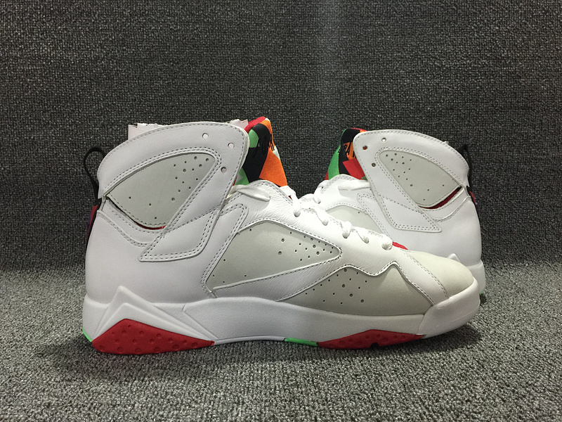 Air Jordan 7 Retro Hare White Red Shoes