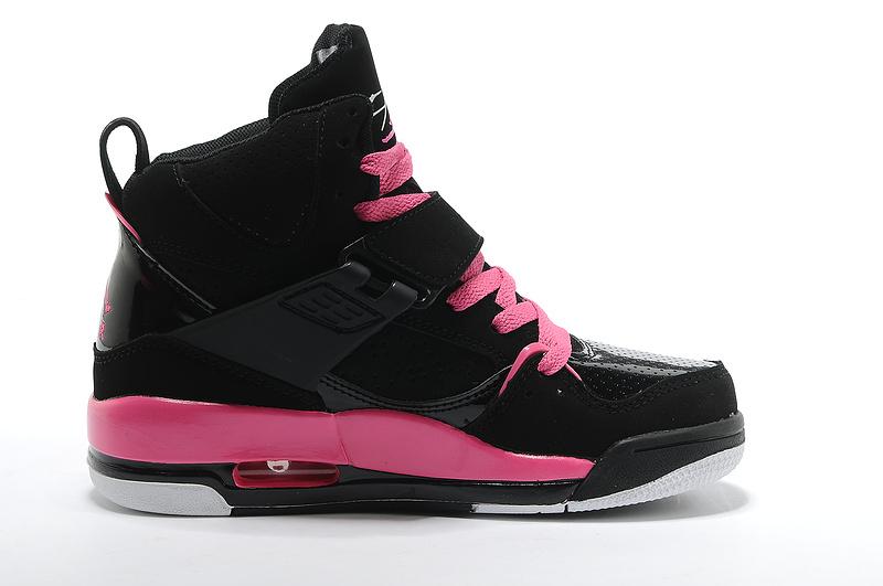 Air Jordan Flight 45 Womens High Black Vivid Pink White