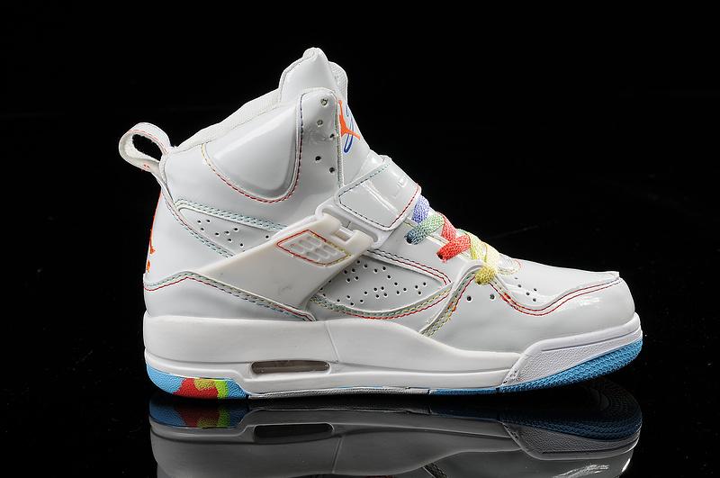 Air Jordan Flight 45 Womens High Rainbow White