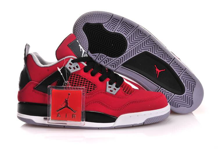 Air Jordan IV GS Fire Red Toro With Plastic Tag