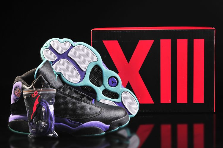 Air Jordan XIII 13 GS Black Purple