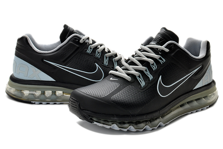 Nike Air Max 2013 Leather All Black Shoes