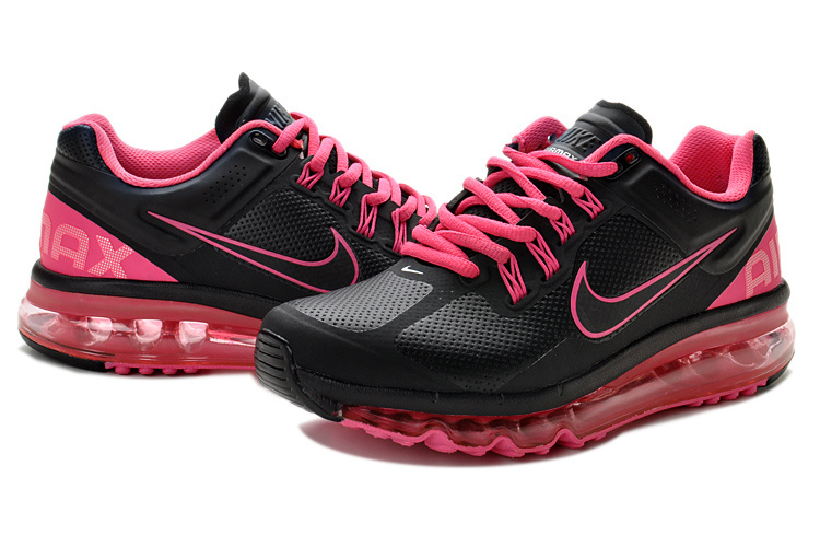 Nike Air Max 2013 Leather Black Pink For Women