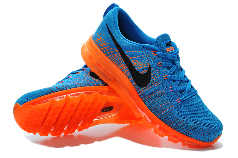 Nike Air Max 2014 Flyknit Blue Orange Shoes